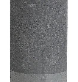 Bolsius kaarsen Pillar candle rustic 190/68 light gray