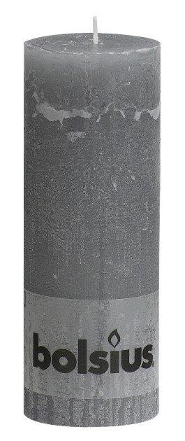 Bolsius kaarsen Stompkaars rustiek 190/68 lichtgrijs