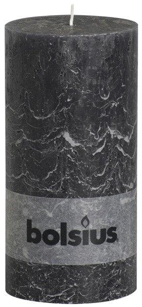 Bolsius kaarsen Pillar candle rustic 200/100 anthracite