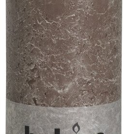 Bolsius kaarsen Pillar candle rustic 200/100 taupe