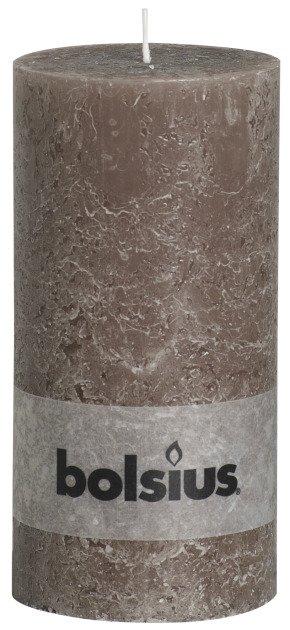 Bolsius kaarsen Stompkaars rustiek 200/100 taupe