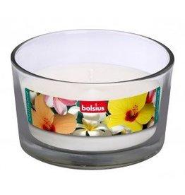 Bolsius kaarsen Outdoor Gevuld glas 82/106 wit