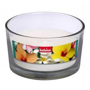 Bolsius kaarsen Outdoor Filled glass 82/106 white
