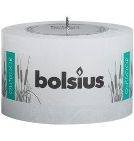 Bolsius kaarsen Bougie rustique d'extérieur 90/140 blanche