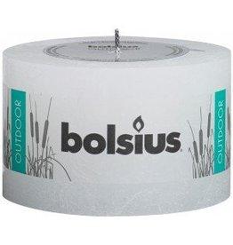 Bolsius kaarsen Rustieke buiten kaars 90/140 wit