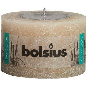 Goede Bolsius kaarsen Rustieke buiten kaars 90/140 pastelbeige - Lagripro OO-07