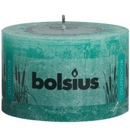 Bolsius kaarsen Rustic outdoor candle 90/140 sea