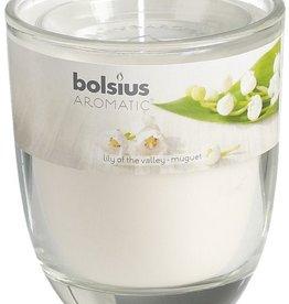 Bolsius kaarsen Lily of valley geurglas met deksel 80/70