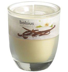 Bolsius kaarsen Verre vanille avec couvercle 80/70