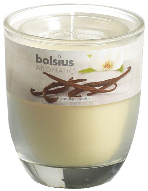 Bolsius kaarsen Vanilla fragrance glass with lid 80/70