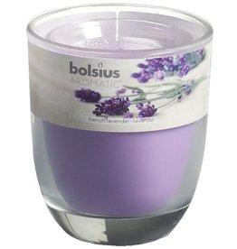 Bolsius kaarsen Franse lavendel geurglas met deksel 80/70