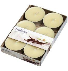 Bolsius kaarsen Vanille maxi geur theelicht 8 uur