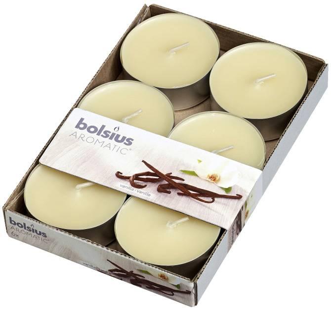 Bolsius kaarsen Vanilla maxi fragrance tealight 8 hours