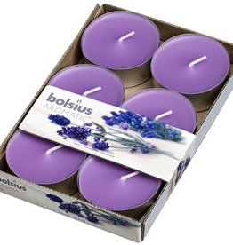 Bolsius kaarsen French lavender maxi fragrance tealight 8 hours