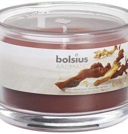 Bolsius kaarsen Sandalwood fragrance glass with lid 63/90