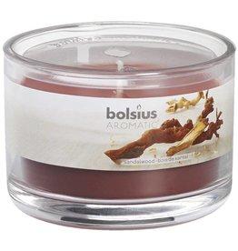 Bolsius kaarsen Sandalwood geurglas met deksel 63/90