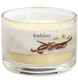 Bolsius kaarsen Vanille geurglas met deksel 63/90