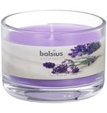 Bolsius kaarsen Franse lavendel geur glas met deksel 63/90