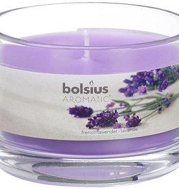 Bolsius kaarsen Franse lavendel geurglas met deksel 63/90