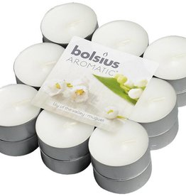 Bolsius kaarsen Lily of valley fragrance tea light 4 hours