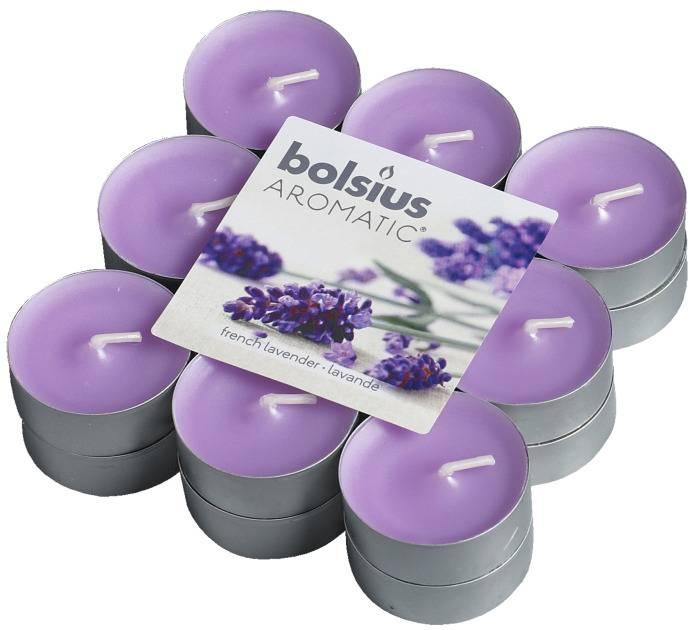 Bolsius kaarsen Franse lavendel geur theelicht 4 uur