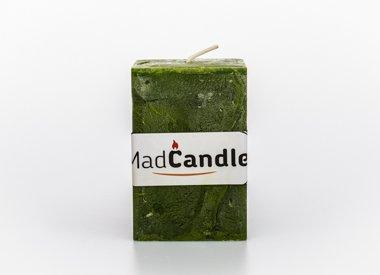 MadCandle Bougie parfumée cube moyenne pomme