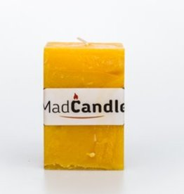 MadCandle Geurkaars kubus medium citroen