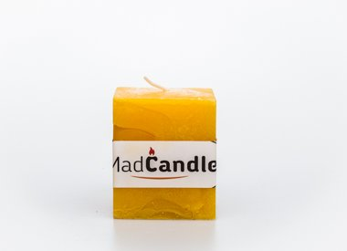 MadCandle Geurkaars kubus klein citroen