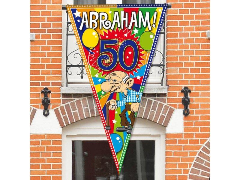 Mega vlag Abraham - 1 stuk