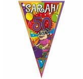 Mega vlag Sarah - 1 stuk