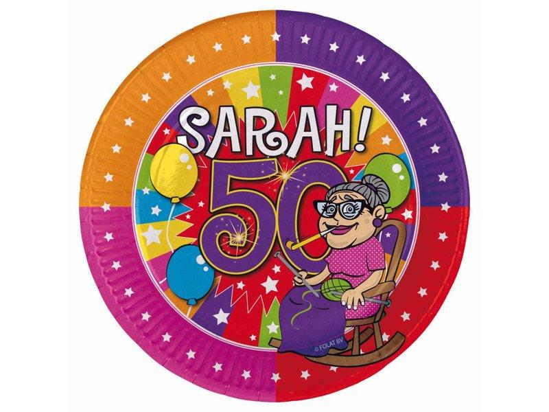 Borden Sarah 18cm - 8 stuks