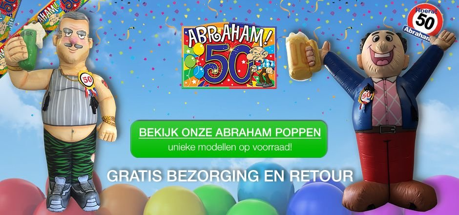 Opblaasbare abraham pop huren banner