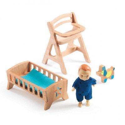 Djeco Poppenhuis babykamer Lolly