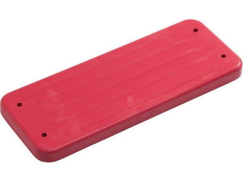 Rubberen schommelzitje - 'trad.' - galv. kettingset - 3.0 m (eff: 2.5 m) - rood