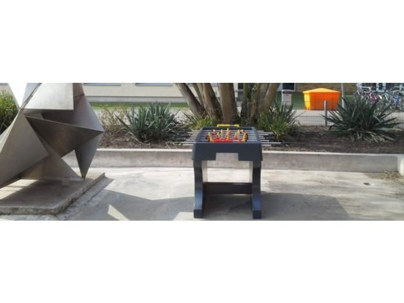 HeBlad Tafelvoetbaltafel van beton Antraciet