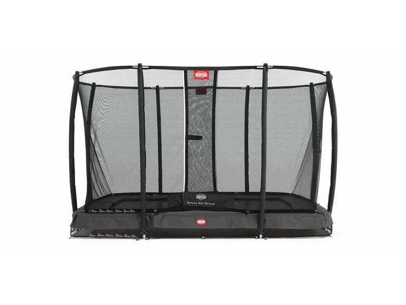 BERG InGround Trampoline EazyFit Grijs 220x330 + Safety Net Deluxe