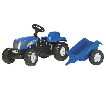 RollyToys RollyKid New Holland TVT 190 met aanhanger