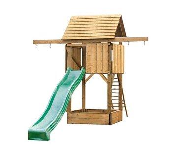 Woodvision Kinderspeelhuis Houten Speelhuis Compact Excl. glijbaan