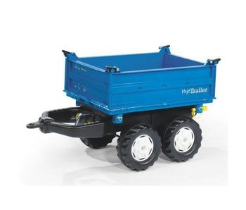 Rolly Toys Rolly Mega Trailer New Holland blauw