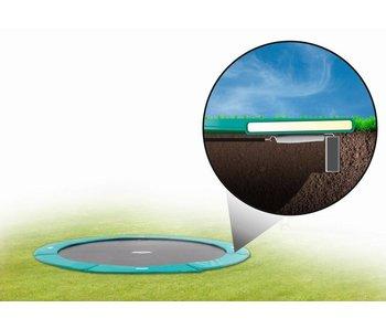 BERG FlatGround Champion trampoline 430 groen (gratis BERG Afdekhoes Extra*)