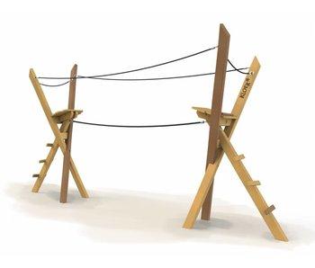 Houtplezier Eekhoorn - touwbrug
