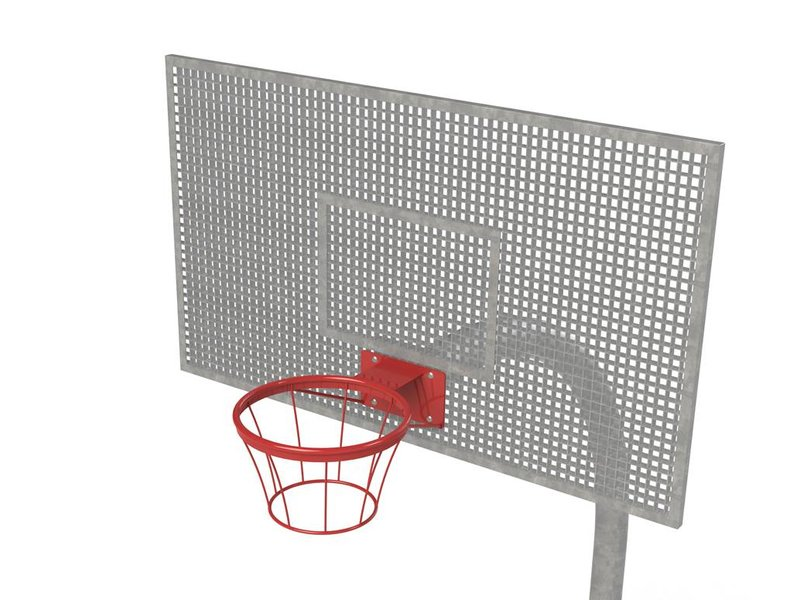 Houtplezier Basketbalpaal (verzinkt, bord en ring gecoat)