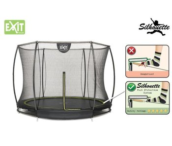Exit  Silhouette Ground Trampoline 305 (10ft) + Safetynet