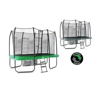 Exit  Jump Arena 244 x 427 rechthoekige trampoline Groen/Grijs