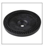 KBT rubberen schotelschommel - galv. kettingset - 3.0 m (eff: 2.5 m) - zwart