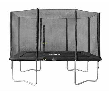Rechthoekige trampoline 214x305 met net antraciet