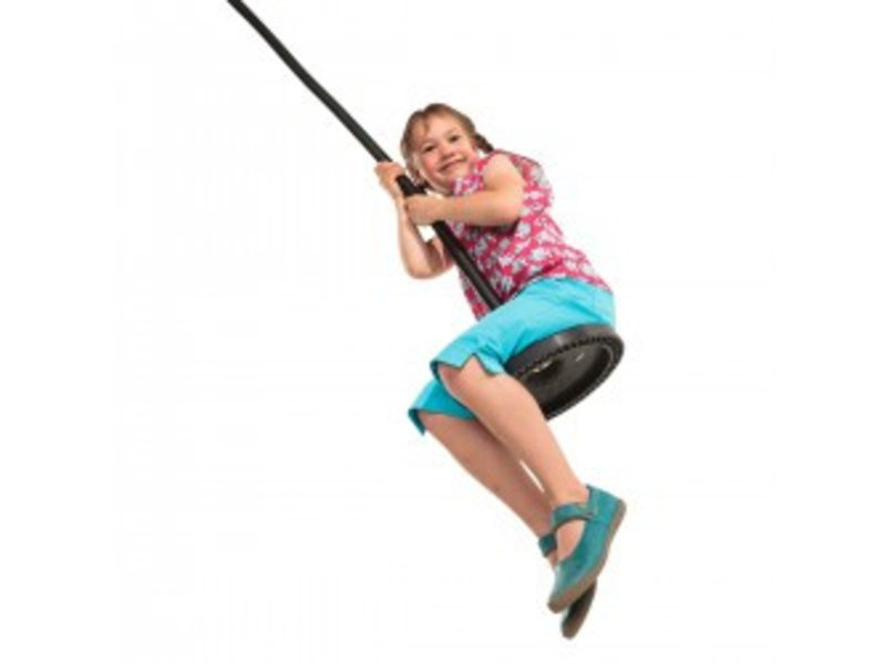 Kettingset met huls voor rubberen schotelschommel - gegalvaniseerd - 2,5 meter