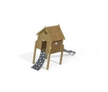 Scheve Robinia speelhuis op palen