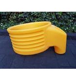 Korfbalpaal aluminium met gele korf type 5 VELD