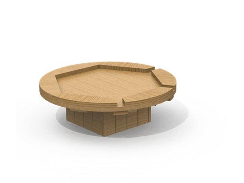 IJreka  Ronde watertafel met 3 poortjes